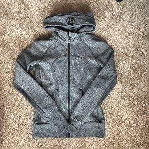 Scuba hoodie zip up III heathered speckled black